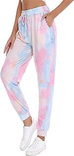 CMTOP Mujer Pantalones Hippies Tailandeses Estampado Verano Cintura Alta Elastica con Bolsillos para Yoga Casual Deportivo...