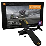 Do-it-yourself airplane model toy For 7-years & above (just as much fun for adults) 30 high-quality, laser cut black acrylic pieces Easy-to-assemble with free video tutorial Decorative decal stickers and craft glue included