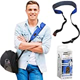 Motorcycle Helmet Carrier Strap - Hands-Free, Motorbike Accessory. Convenient, Lightweight and Comfortable Alternative to Helmet Bag. A Perfect Biker Gift for Men and Women. by EZ-GO (Blue)