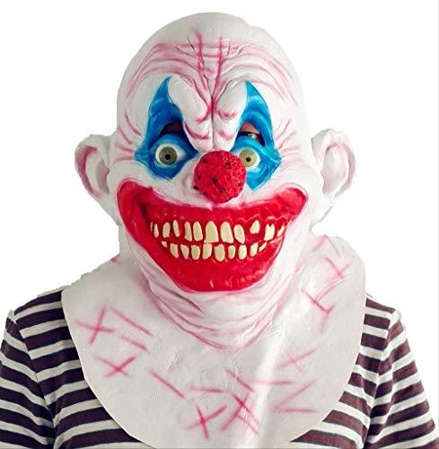 Latex masker met rode neus clown masker, eng cosplay joker masker, voor halloween thema feesten, kostuum bal, familie verzamelingen, kleding partijen