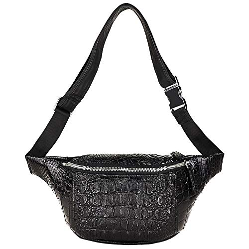 XinMeiMaoYi Outdoor Backpack Crocodile Chest Bag, Leather Men's Shoulder Bag, Men's Waist Bag, Men's Messenger Bag, Fashion And Leisure Crocodile Leather Bag