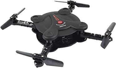 Oldeagle FQ777 FQ17W 0.3MP RC Drone Quadcopter, WiFi FPV Foldable Pocket Drone with 0.3MP Camera Altitude Hold Headless Mode Helicopter (Black)