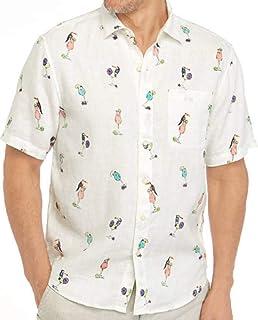 Tommy Bahama Toucan Tini Linen キャンプシャツ