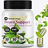 Premium Nootropics & Brain Supplement for Focus, Brain Fog, Brain Booster, Mood Enhancer ǀ Memory Supplement for Brain, Anti Anxiety, Stress Relief with Gingko Biloba, Bacopa Monieri and More