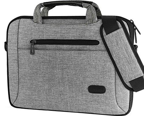 ProCase 14-15.6 Inch Laptop Bag Messenger Shoulder Bag Briefcase Sleeve Case for 2019 MacBook Pro 16' / Surface Book 3 15', 14 15 15.6 Inch Laptop Ultrabook Notebook MacBook Chromebook Computer -Grey