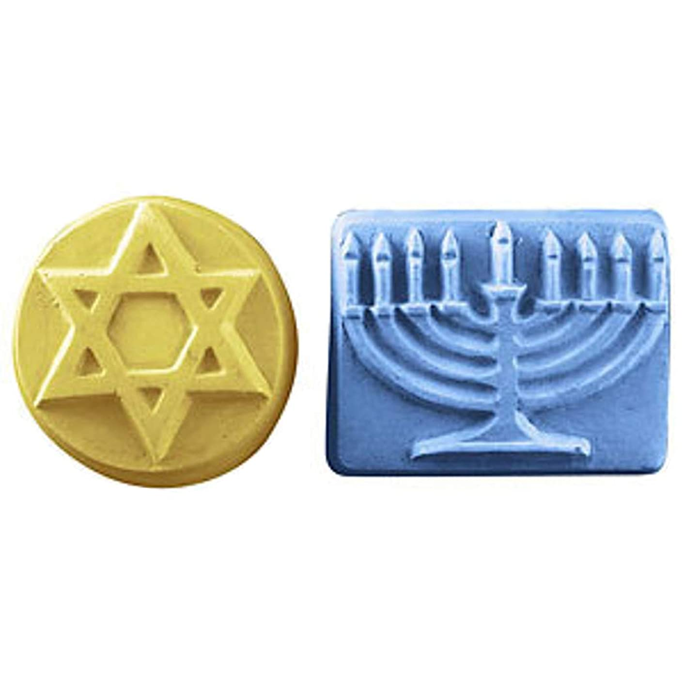 Milky Way Hanukkah Soap Mold Tray - Melt and Pour - Cold Process - Clear PVC - Not Silicone - MW 347