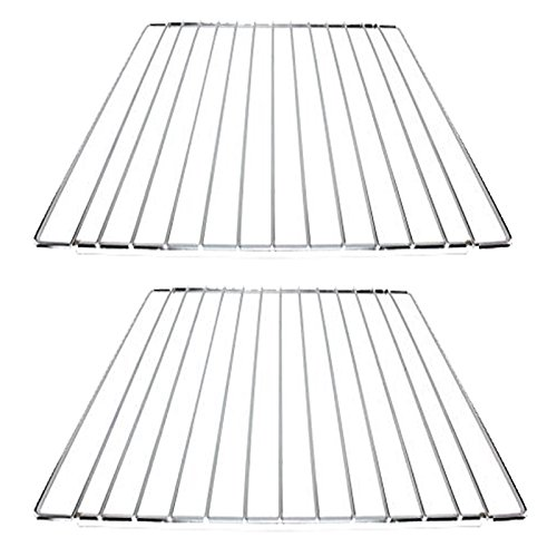 SPARES2GO Verstelbare Uitschuifbare Oven Kookplank met Afsluitmoeren voor Dometic Smev Cramer Caravan/Motorhome (Pack van 2 Planken)