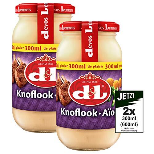 Devos Lemmens D & L Knoflook Aioli Sauce 2x 300ml (600ml) - Knoblauchsoße