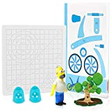 3D Printing Pen Silicone Design Mat with 2 Silicone Finger Caps, 3D Drawing Pen Basic Template Mat Tool with Stencils Book for Beginners and Children (Translucent)