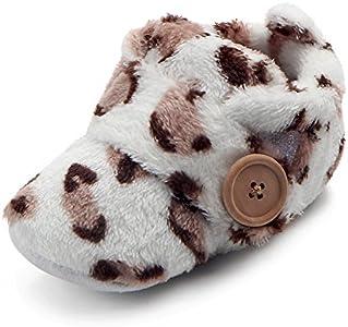 Zapatos Bebe Invierno Fossen Recién Nacido Niñas Niños Primeros Pasos de Felpa con Botón
