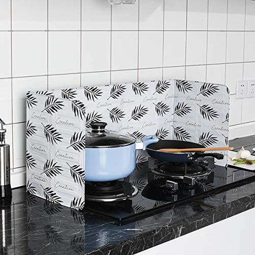 Yuehuam Anti-Splatter-Schutzschild Klappbare Küche Kochfeld Öl-Gasherd-Abdeckung Schützt Die Haut vor Verbrennungen Wandschutz Hält Die Küche Sauber