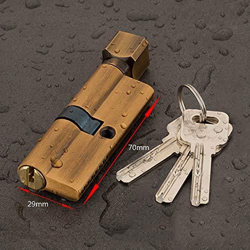 Cerradura de embutir 4 colores Cerradura de cilindro de la puerta sesgada 70 mm 3 llaves de entrada antirrobo de latón AB Puerta de bloqueo de puertas Hardware de la puerta de seguridad Bloquear la pu