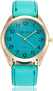 Womens Watches Clearance Sale,Hengshikeji Analog Quartz Wrist Watches Casual Quartz Leather Band New Strap MEIBO Dail Fashion Ladies Watches Bracelet Sport Watches for Females Gift