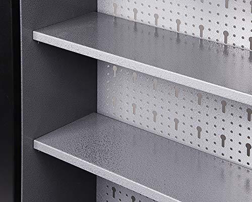 Ondis24 Werkstatteinrichtung Werkstatt Werkbank 120 cm breit mit höhenverstellbaren Füßen und passender Werkzeugschrank 120 cm breit mit 2 Ablagen, abschließbare Türen - 7