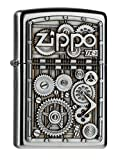 Zippo Gear Wheels Mechero, Metal, Satin Chrome, 3.5x1x5.5 cm