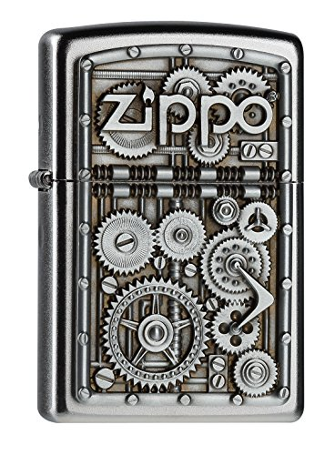 Zippo 2004497 Gear Wheels Feuerzeug, Messing, Silber, one Size