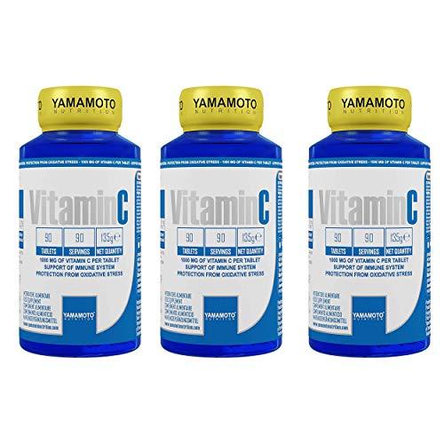 Yamamoto Nutrition Integratore di Vitamina C (270 compresse (3 confezioni))