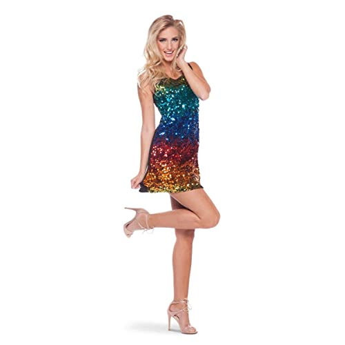 Rainbow Costume with colorate sequins (Size: S/M)