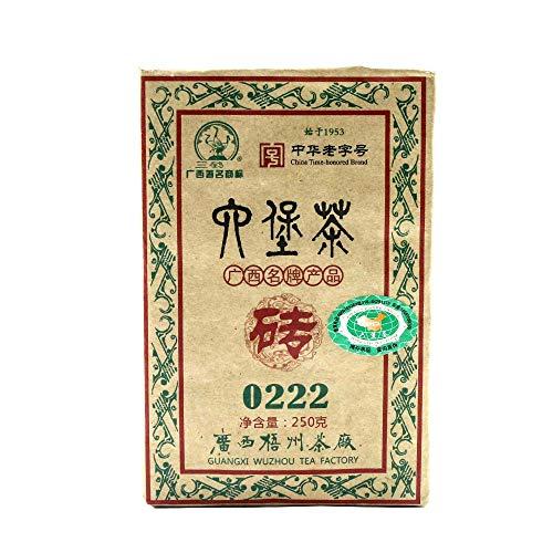 FullChea - Sanhe 0222 Dark Tea 2012 - Golden Flower Tea Loose Leaf - Liubao Tea From Guangxi - Weight Loss Tea - 8.11oz / 230g