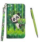 TOUCASA Hülle Kompatibel mit iPhone 11 6,1 Inches, Handyhülle Brieftasche PU Leder Flip [3D] Case Magnetverschluss Handytasche Klapphülle Tasche Lederhülle Schutzhülle (Panda)