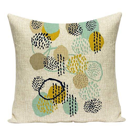 chuanglanja Outdoor Cushions Cushion Linen Cushions Home Decor Pillow Cover Botanical Pillow Outdoor Cushions 2pcs-Color4