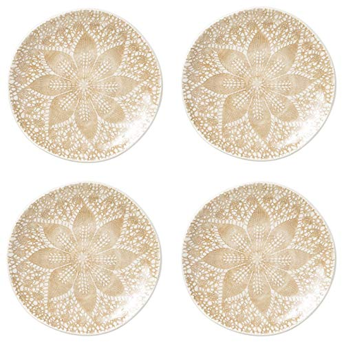 Vietri Viva Lace Cocktail Plates - Set of 4 - Natural