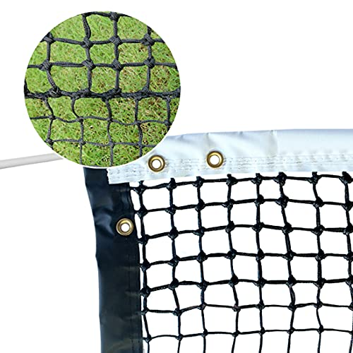PROGOAL Tennis Net 42FT Professional Heavy Duty Nylon Net Double, Compatible with All Standard Tennis Posts, IncludedIndoor Outdoor Court (Double Braided)