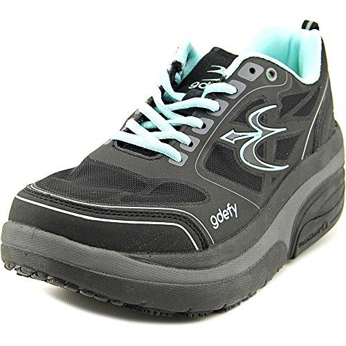 Gravity Defyer Women's G-Defy Ion Black Comfortable Walking Shoes 9 W US - Pain Relief Shoes for Plantar Fasciitis, Heel Spurs, Knee Pain Shoes