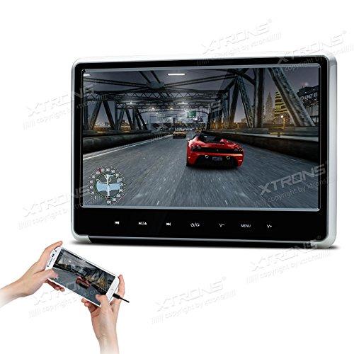 """XTRONS 1 Stück 11,6"""" Auto DVD Player mit USB und HDMI Port HD Touchscreen Headrest unterstützt 1080p Video Blickswinkel verstellbar IR/FM Transmitter 178° Weitwinkel"""