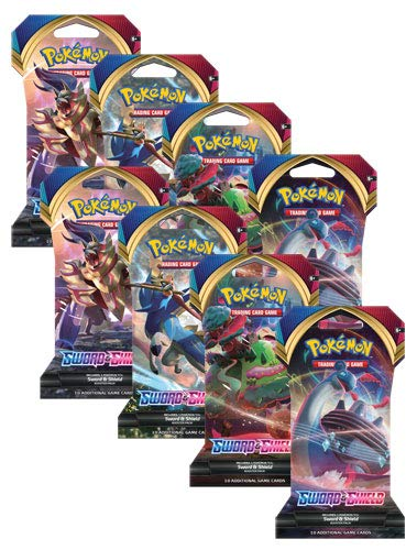 Pokemon TCG Sword and Shield (8) Sleeved Booster Packs - 10 Cards per...