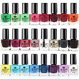 Splash 24 x Esmalte De Uñas 24 Colores Diferentes Modernos Secado Rápido (Set A)
