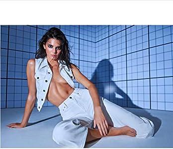 danyangshop Pintura De Lienzo Kardashian Kendall Jenner Modelo Vestido De Moda Vestido Sociedad Dama Ropa Interior Reina Chica Póster Arte De Pared P-516 (50X90Cm) Sin Marco