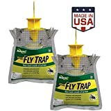 2. RESCUE! Outdoor Disposable Hanging Fly Trap – 2 Pack