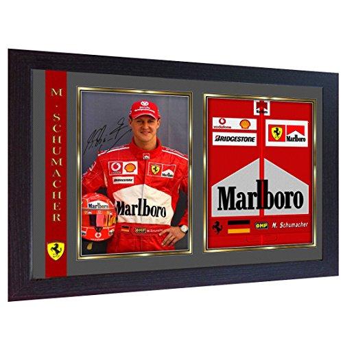 SGH SERVICES Autogramm Michael Schumacher Ferrari Formel 1, gerahmt, vorgedruckt, gerahmt