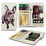 N4U ONLINE® Verschiedene Muster Clip Serie Kunstleder Brieftasche Hülle für Oppo Neo 7 - H&