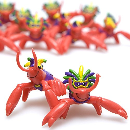 Fun Express Mardi Gras Mini Crawfish | 24 Count | Great for Luau, Children's Party, Birthday Bash, Themed Parties, Giveaways or Party Favors