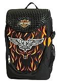 Harley Davidson Mochila Infantil, Color Negro/Naranja