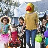 WXGY gelbe Entenmaske, Halloween-Kostüm, Latex, Entenkopfmaske, Tierkopf, Maske für Erwachsene,...