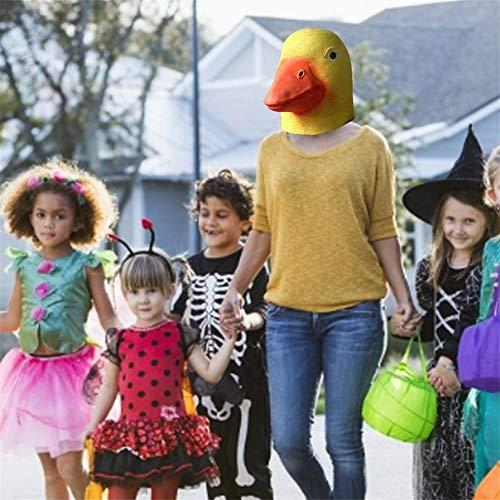 WXGY gelbe Entenmaske, Halloween-Kostüm, Latex, Entenkopfmaske, Tierkopf, Maske für Erwachsene, Halloween, Weihnachten, Designer