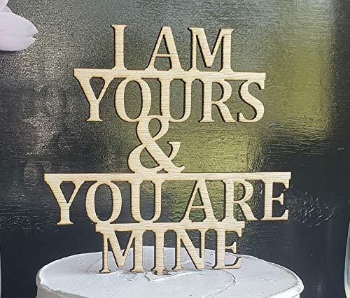 Ik ben de jouwe en jij bent de mijne bruiloft taart topper, glitter bruiloft taart topper, rustieke bruiloft taart topper, verjaardag taart topper