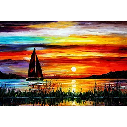 Puzzel Voor Volwassenen, Sunrise Zeilboot, 1000/1500 Stukjes Houten Puzzel Educatief Speelgoed Voor Volwassen Kinderen Voor Vakantiegeschenk Woondecoratie -3.30 (Size : 1000 pieces)