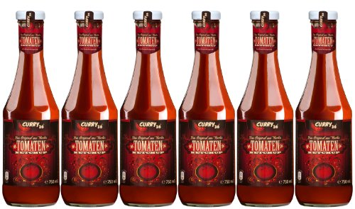 6 x Curry 36 Tomaten Ketchup 750 ml - das Original
