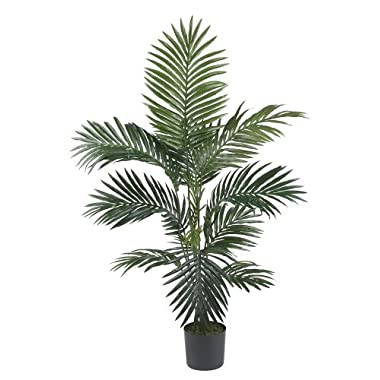 Nearly Natural 5295 Kentia Palm Silk Tree, 4-Feet, Green