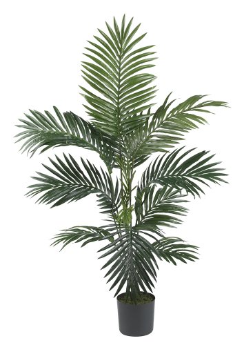 接近自然的5295 4英尺肯雅棕榈丝树,绿色