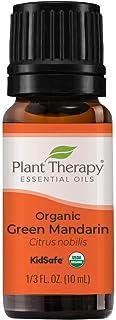 Plant Therapy Organic Green Mandarin Essential Oil 10 mL (1/3 oz) 100% Pure, Undiluted, Therapeutic Grade
