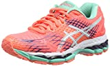 ASICS Gel-Nimbus 17 - Zapatillas de Running para Mujer, Color Rojo (Flash Coral/White/Indigo Blue 0601), Talla 35.5 EU (3 UK/5 US)