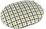 Karlie 60082 - Cuscino ovale per cani, 50 x 40 x 8 cm, colore: Blu/Verde