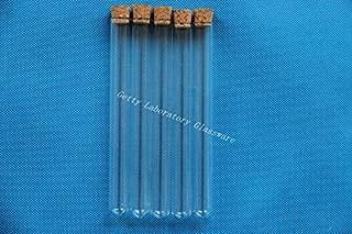 Pyrex redondo inferior tubos de ensayo 15x 150mm, resistente a altas temperaturas, con enchufe
