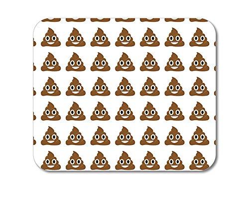 ChargersAndCases CUSTOM Mouse Pad 1/4' - Poop Emoji Pattern