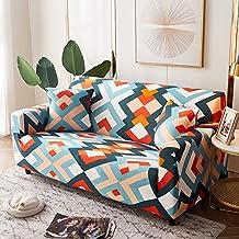 Housse de canapé élastique géométrique de Salon, Housse de canapé d'angle Fendue télescopique, Housse de canapé antidérapa...